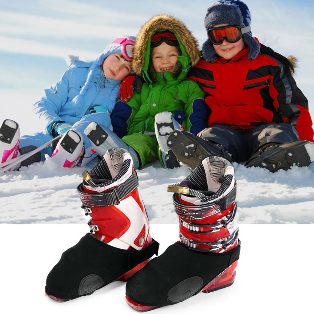 Winter Ski Snowboard Boot Covers Waterproof Warm Shoe Covers Snow Boots Toe Covers Protector Universal Toe Warmers Ski Tools2
