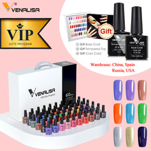 Top-Coat Nail-Gel Diamond VENALISA Polish Vip-Kits Color Soak-Off Varnish Base UV LED