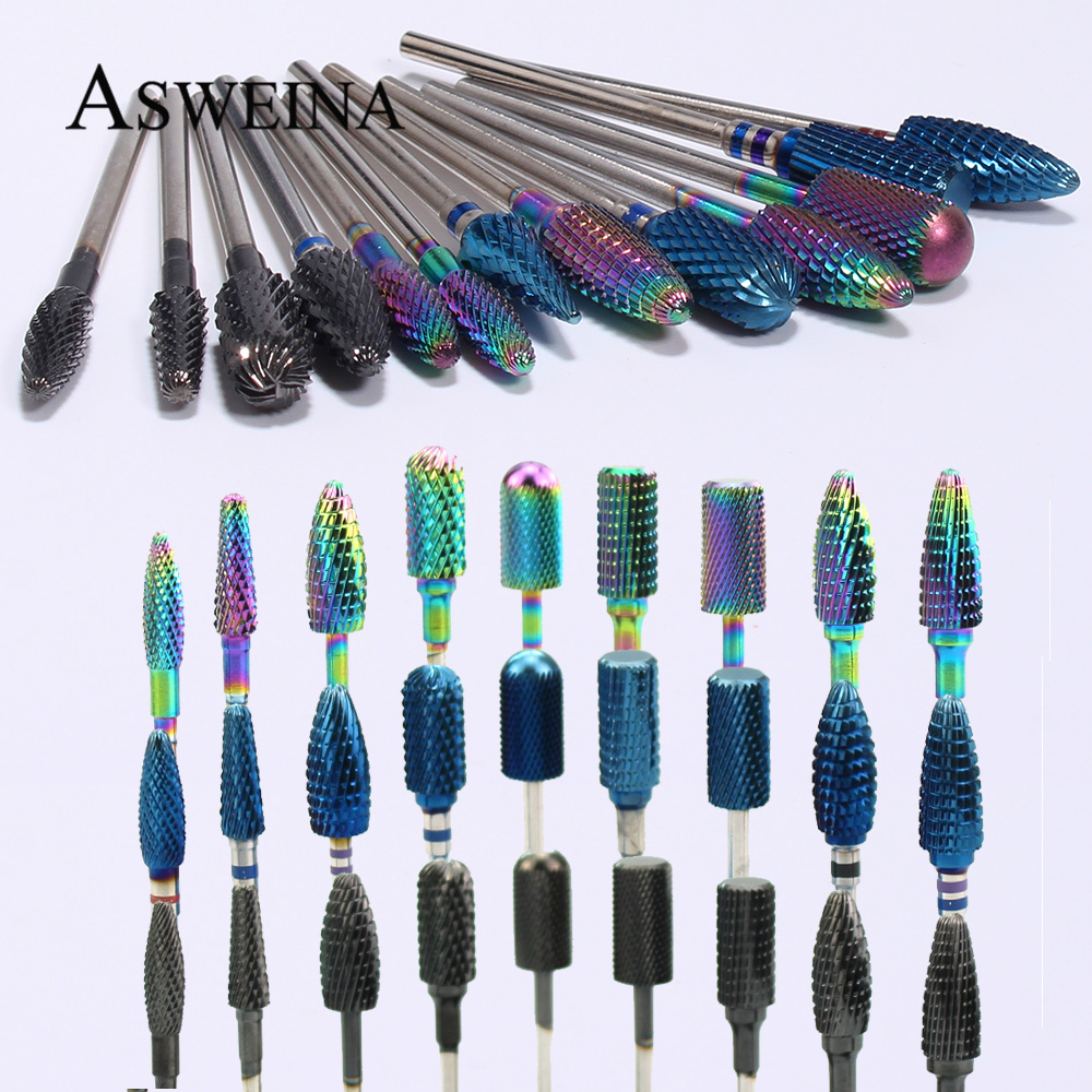 Carbide Nail Drill Burr Rotary Frees Bit Nails Files Manicure Milling Cutter Bits For Electric Machine Accessories Tools