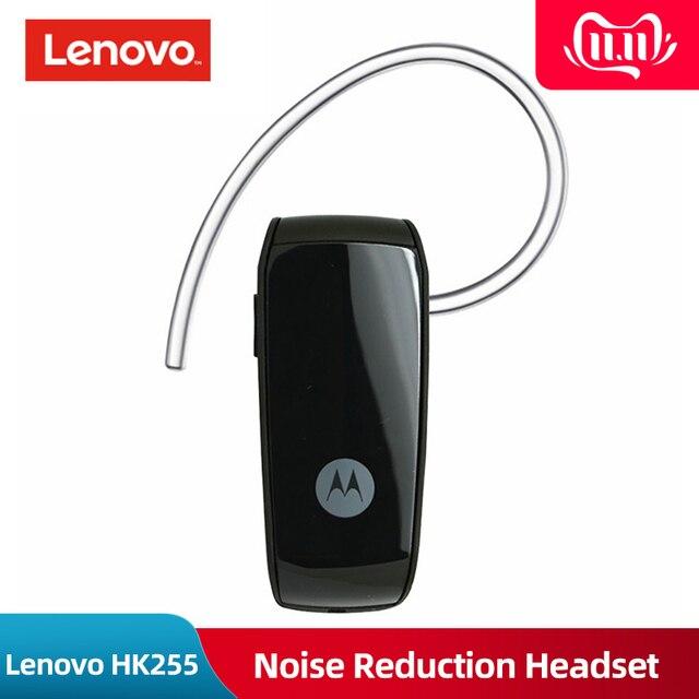 Оригинальный lenovo Motorola HK255 беспроводная Bluetooth гарнитура шумоподавление Бизнес наушники с микрофоном для iPhone Xiaomi Oppo huawei