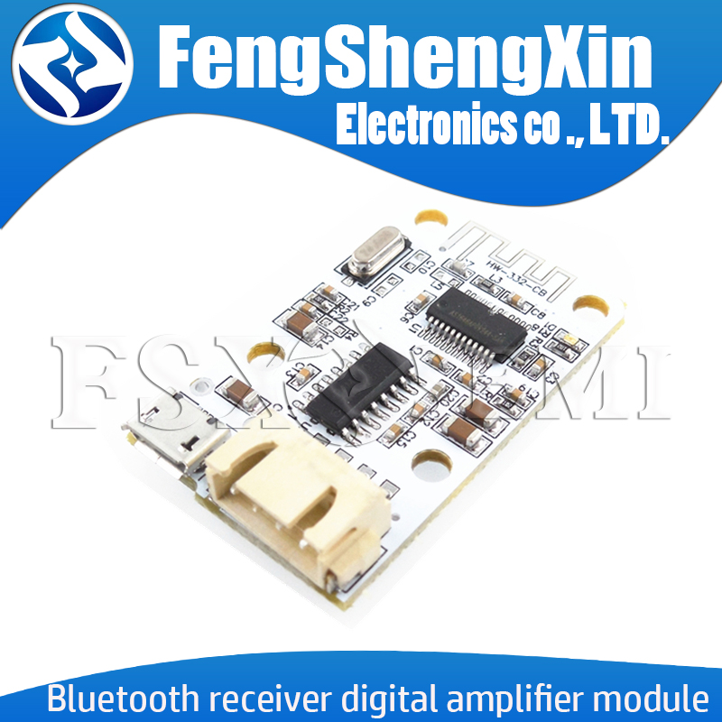 PAM8403 Wireless <font><b>Bluetooth</b></font> 4.0 Stereo Audio Receiver Module Digital <font><b>Amplifier</b></font> Sound Loud Board Micro USB 3W+3W <font><b>5V</b></font> DC For Arduino image