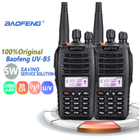 "vhf uhf 2pcs Baofeng UV-B5 קל נייד ווקי טוקי רדיו UHF VHF Dual Band Ham Radio רדיו Comunicador Talkie Walkie 50 ק""מ (1)"