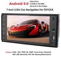 Ouad Core 2Din coche Android 9,0 Radio reproductor Multimedia para Toyota Rav4/Terios/Camry 1G RAM 16G ROM GPS navegación DSP USB