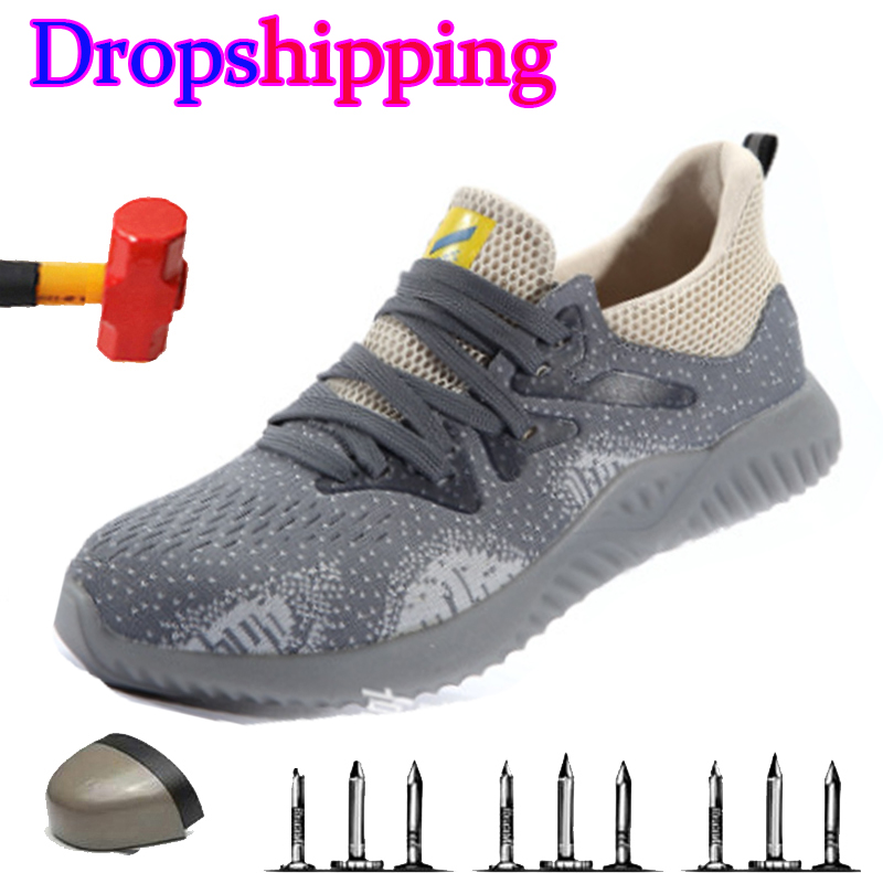 Dropshipping Indestructible Ryder Shoes Men And Women Air Safety Steel Toe Boots Puncture-Proof Sneakers Breathable Work Shoes