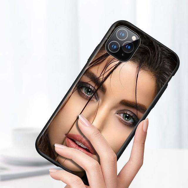 Sexy rękaw tatuaż dziewczyna Anti-fall silikonowy futerał na telefon dla iPhone 11 Pro XS Max X XR 6S 6 7 8 Plus 5S miękka czarna okładka Capa