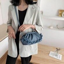 Special Women Handbags Dumpling-shaped Armpit Clutch Bags Frill Waterproof Anti-fouling Multifunctional Women Shoulder Bags Blue