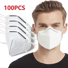 100pcs Adult Masks 5 Layers Fine Air Filter Dust Face Mask Personal Protect Home Health Care mascarillas In Stock