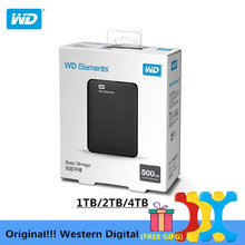 "Originele!!! Western Digital Wd Elements Harde Schijf Hard Disk Hdd 2.5 ""500Gb 1Tb 2Tb 4Tb Hdd usb 3.0 Draagbare Externe Harde Schijf"