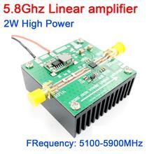 5.8Ghz 2 واط عالية الطاقة الخطي مكبر للصوت 5100 5800MHZ واي فاي FPV نقل الصور مضخم للترددات اللاسلكية (RF) المدى البعيد إشارة مكبر كهربائي