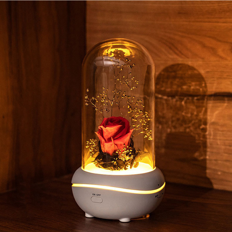 2020 New Rose Colorful Atmosphere Lamp USB Aromatherapy Machine Home Gift Girl Gift Holiday Gift Wedding Decoration