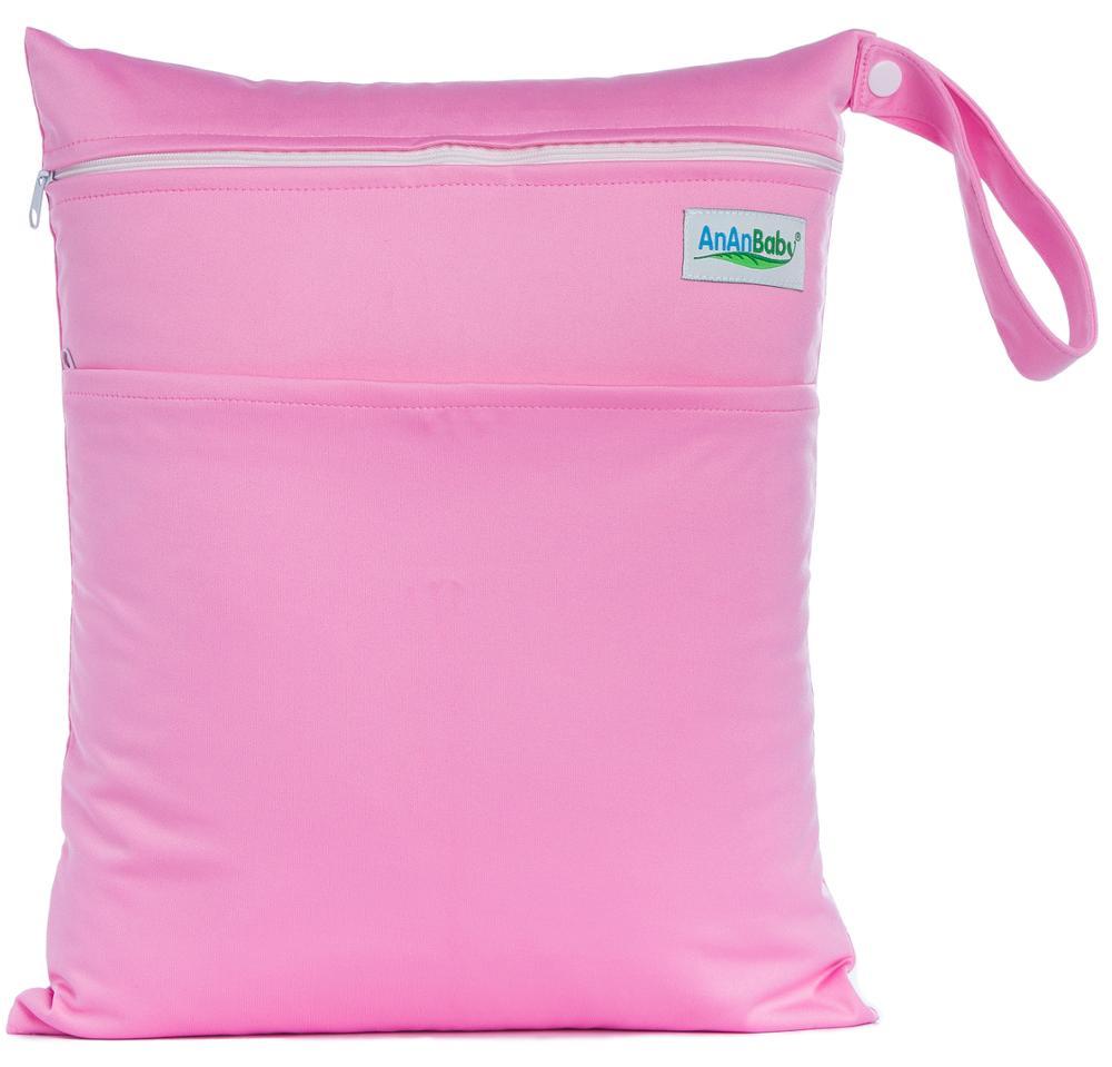 Plain Color Reusable Hanging Diaper Organizer For Swimming Dry Bag Cloth Diaper Wet Bag AW13