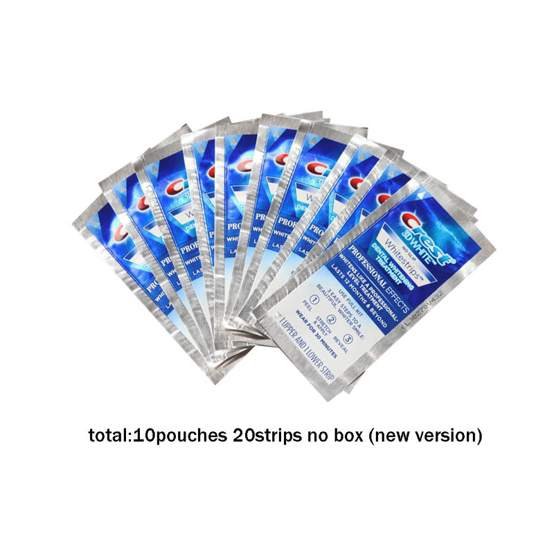 VIP 3D White Whitestrips Teeth Whitening Kit Oral Hygiene Professional Effects Dental Care Products Original 40 Strips 20Pouch