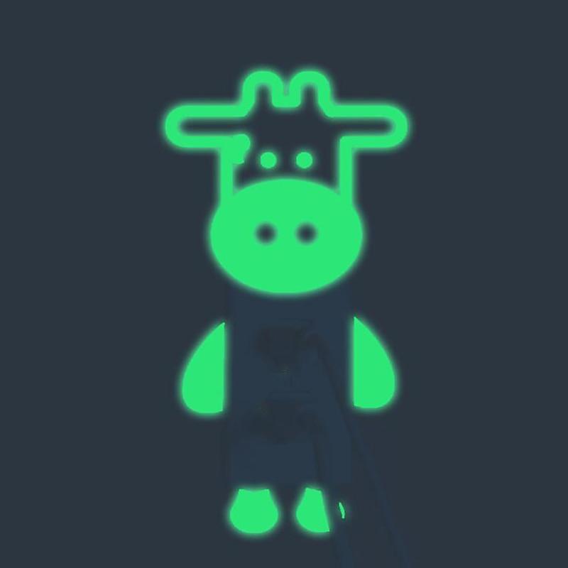 Животные настенные стикеры s для детской комнаты милые Креативные корова светящееся Серебристое свечение переключатель наклейки домашний