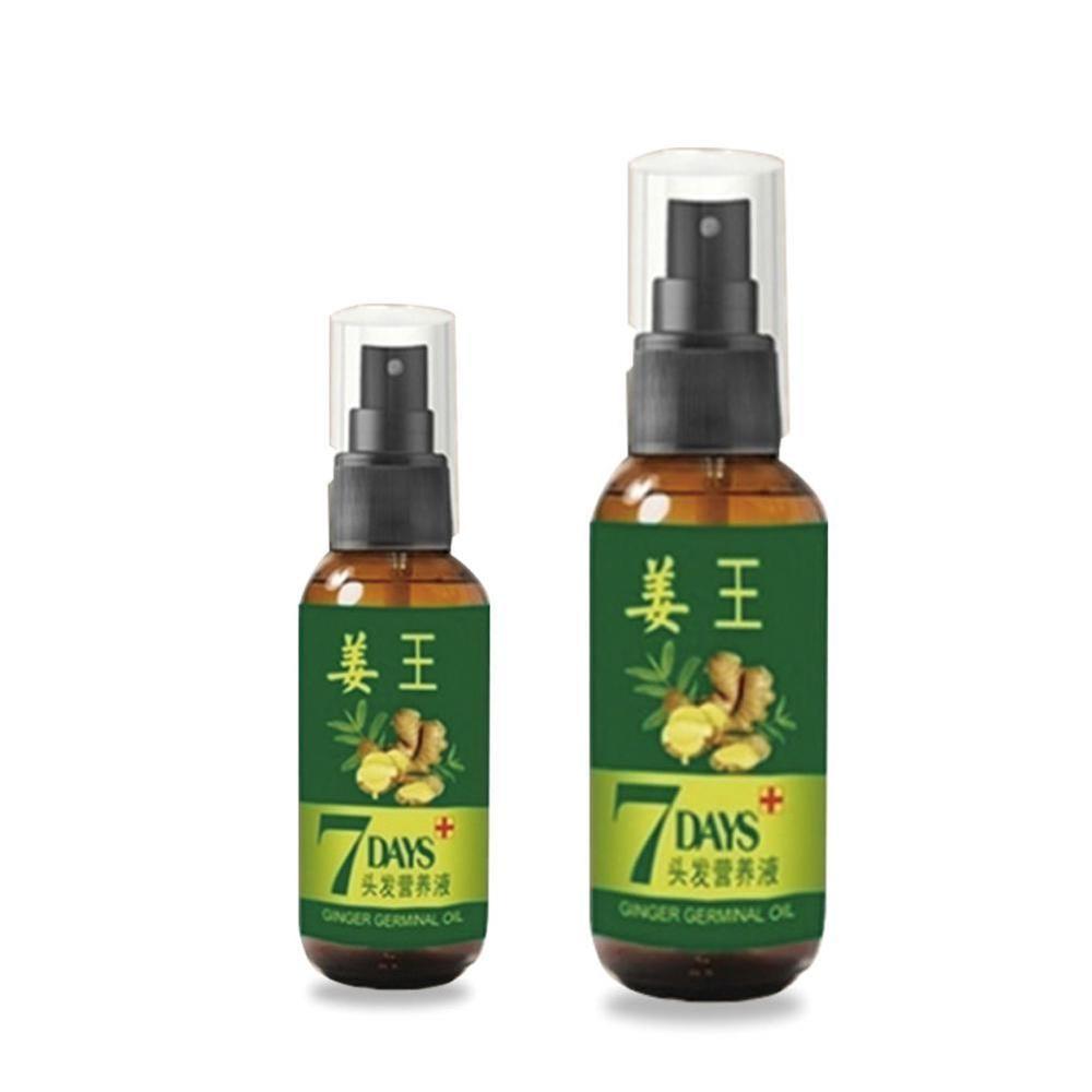 30/50ml 7 Day Ginger Germinal Serum Oil Natural Hair Loss Treatement Effective Fast Hair Growth Oil Hair Fiber Nutrition