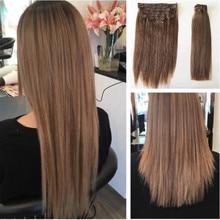 VSR Clip Ins 7pcs/set 8pcs/set European Hair Machine Remy Human Hair Clip In Hair Extension