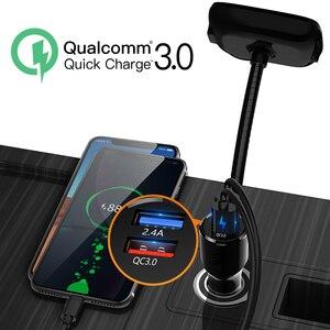 Image 4 - Deelife Bluetooth eller serbest araç kiti Fm verici modülatör için otomatik USB MP3 oynatıcı BT 5.0 adaptörü eller serbest ses alıcısı