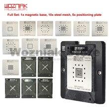 Beste Verkäufer Vorlage für IPHONE 6 6P 6S 6SP 7G 7P 8 8P XS XR XSMAX A8 A9 A10 A11 A12 CPU BGA Reparatur Zinn Panting Stahl Mesh