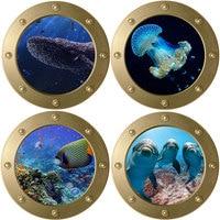De la vida de mar tiburón submarino pegatinas de pared/ventana nevera baño casa bricolaje decoración 3d Nemo de Pvc arte Mural de calcomanías
