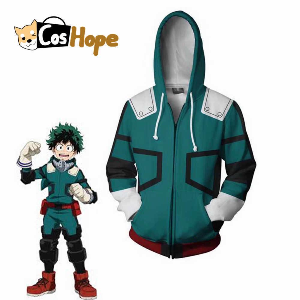 My Hero Academia Boku Midoriya Izuku Cosplay Costume Halloween Jacket Hoodie New