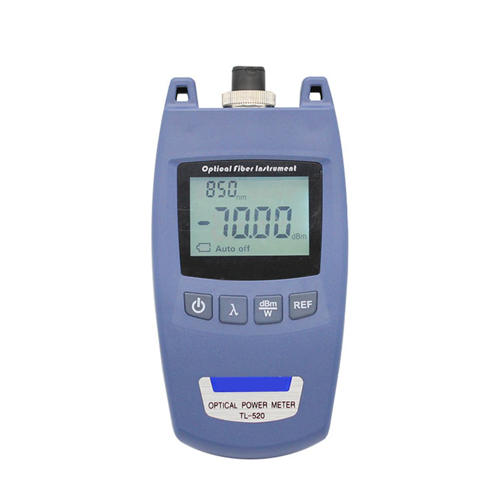 Mini Portable FTTH Optical Power Meter OPM Optic Fiber Cable Tester -70dBm~+10dBm SC/FC Universal Connector TL-520