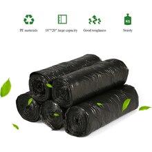 """5 рулонов 100 шт пластиковые мешки для мусора мусорные мешки экологически чистые мешки для мусора для кухни ванной комнаты дома отеля 1""""* 20"""""""