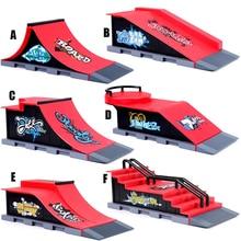 6 In 1 Mini Finger Park Figure Skate Scene Board Venue Combination Toys Skateboarders Ramp Track Toy Set For Boy Christmas Gifts