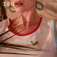 ZEGL Фламинго пчела брошь женская Ювелирная брошь Милая Студенческая дикая одежда Нагрудный значок шпилька шарф Пряжка воротник игла