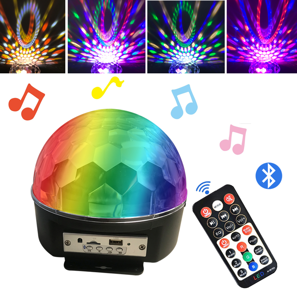 Bluetooth MP3 LED Disco Light Ball Party Light Rotating Stage Lamp DJ Projector Laser Music Play Sound Lights Disco Lamp Party