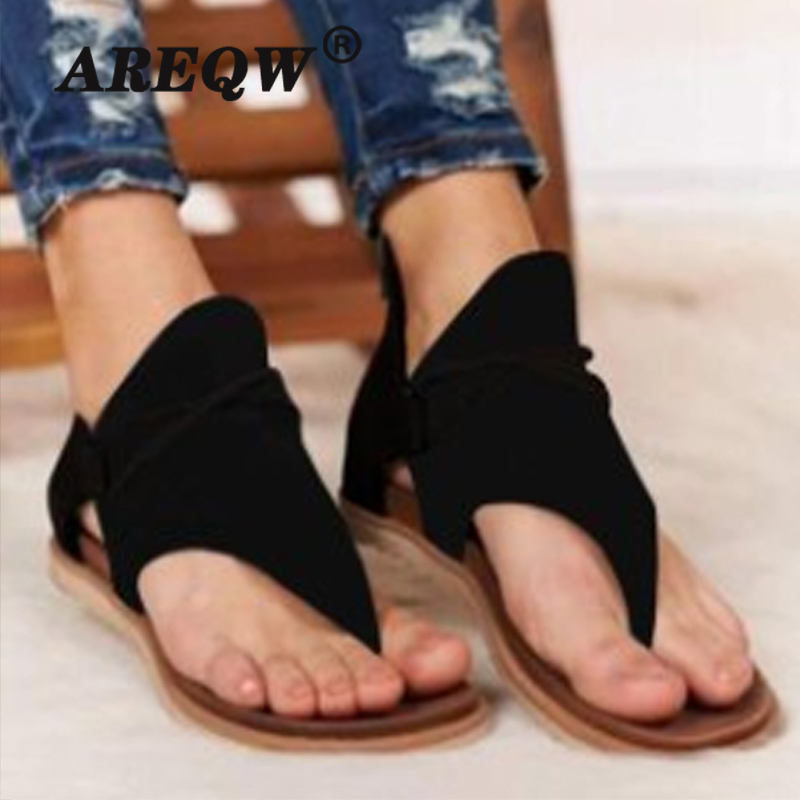 Clip Toe Vintage Women Sandals Fashion Snake Flat Retro Shoes Woman Casual Female Beach Sandals Zipper Ladies 2020 Summer