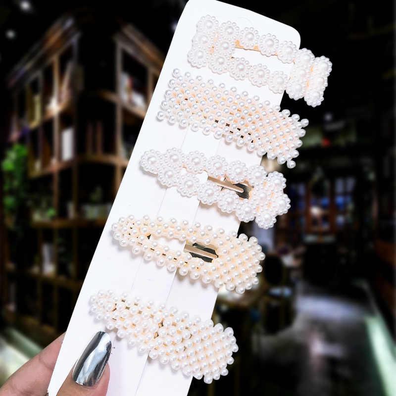 1Set Beliebte Perle Haar Clips Modische Frau Sommer Haar zubehör Haarnadeln BB Clip Styling Werkzeuge Barrettes Headwear
