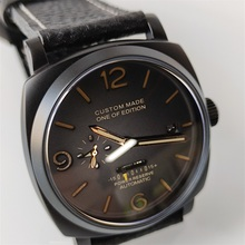 Top brand 47mm automatic mechanical watch power reserve supe