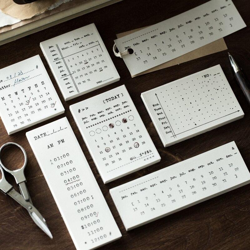50 folhas para fazer a lista bloco de notas dia mês planejador agenda agenda agenda criativo bloco de notas pegajoso escritório material escolar papelaria