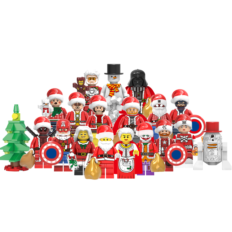 Christmas Halloween Figures Santa Claus Multiple Shapes Building Blocks Creative Movie Bricks Toys For Children With Legoingly