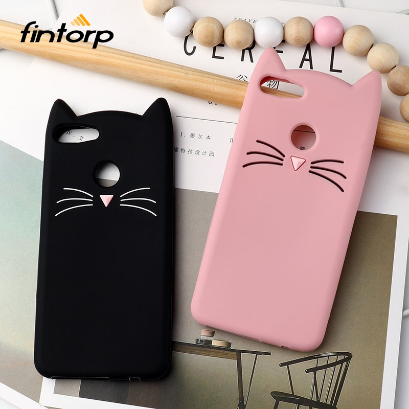 <font><b>Case</b></font> for <font><b>Huawei</b></font> Y5 2017 Y5 Y3 II Y6 Y9 2018 <font><b>Cases</b></font> 3D Cute <font><b>Cat</b></font> Silicone Cover for <font><b>Huawei</b></font> <font><b>Y7</b></font> Prime 2017 2018 <font><b>Y7</b></font> Pro Y9 <font><b>2019</b></font> Bumper image