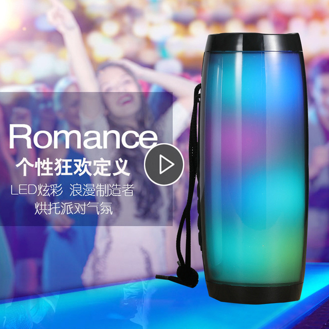 Powerful Bluetooth Speaker Boombox Wireless Speaker LED Light Support TF card AUX cable with MIC for Smartphone PC Computer 1