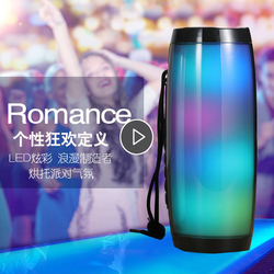 Powerful Bluetooth Speaker Boombox Wireless Speaker LED Light Support TF card AUX cable with MIC for Smartphone PC Computer
