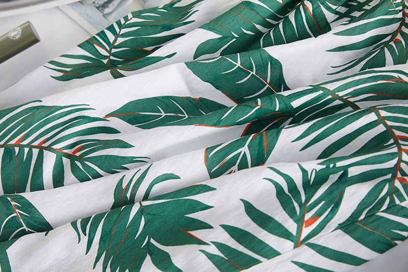 DIMANAF 2020 grande taille gilet été Style T-Shirt femmes plante imprimer vacances hauts femme dame coton hauts amples grande taille XL-5XL