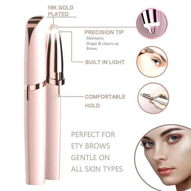 Mini Electric Eyebrow Trimmer Makeup Painless Eye Brow Epilator for Women  Shaver Razors Portable Facial Hair Remover 3