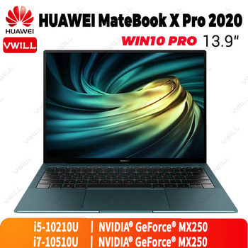 13.9 inch HUAWEI MateBook X Pro 2021 Laptop Intel Core i5-10210U/i7-10510U NVIDIA MX250 Touchscreen Windows 10 Pro Enlish 1