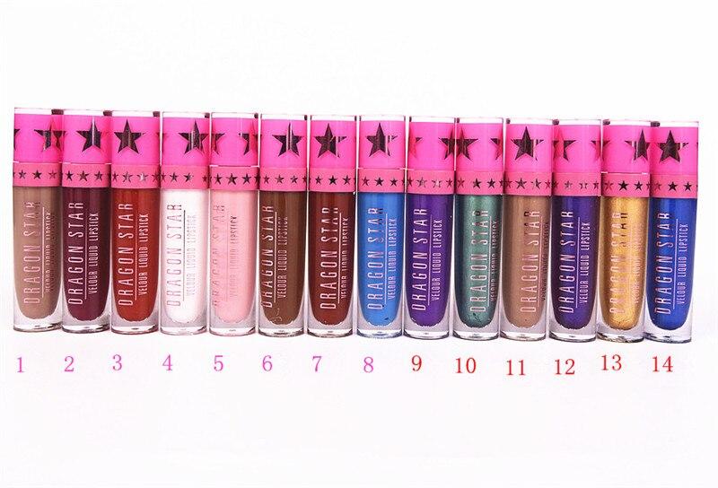 NEW Brand Dragon Stars Matte Lip Gloss Makeup Tint Liquid Matte Lipstick Velvet waterproof long lasting Beverly Hill lip kit 4
