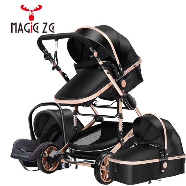 Carrinho de criança 3 em 1 portátil viagem carrinho de bebê dobrável carrinhos quadro alumínio alta paisagem carro para recém-nascidos babyboomer poussette 6