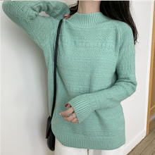 Autumn Women Sweater Korean Woman Knitted Sweaters Fashion 2019 Turtleneck Pullovers Thick