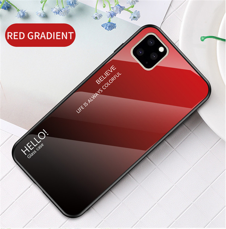 Ollyden Gradient Tempered Glass Cases for iPhone 11/11 Pro/11 Pro Max 11
