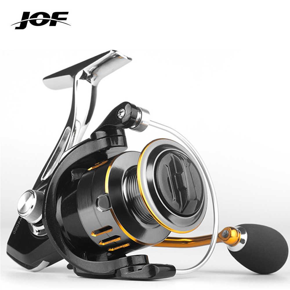JOF вся металлическая Рыболовная катушка GW1000-7000 5,2: 1 8 кг Макс Перетащите морской Спиннинг рыболовная Катушка для ловли карпа бас Нержавеющаясталь катушка для рыбной ловли