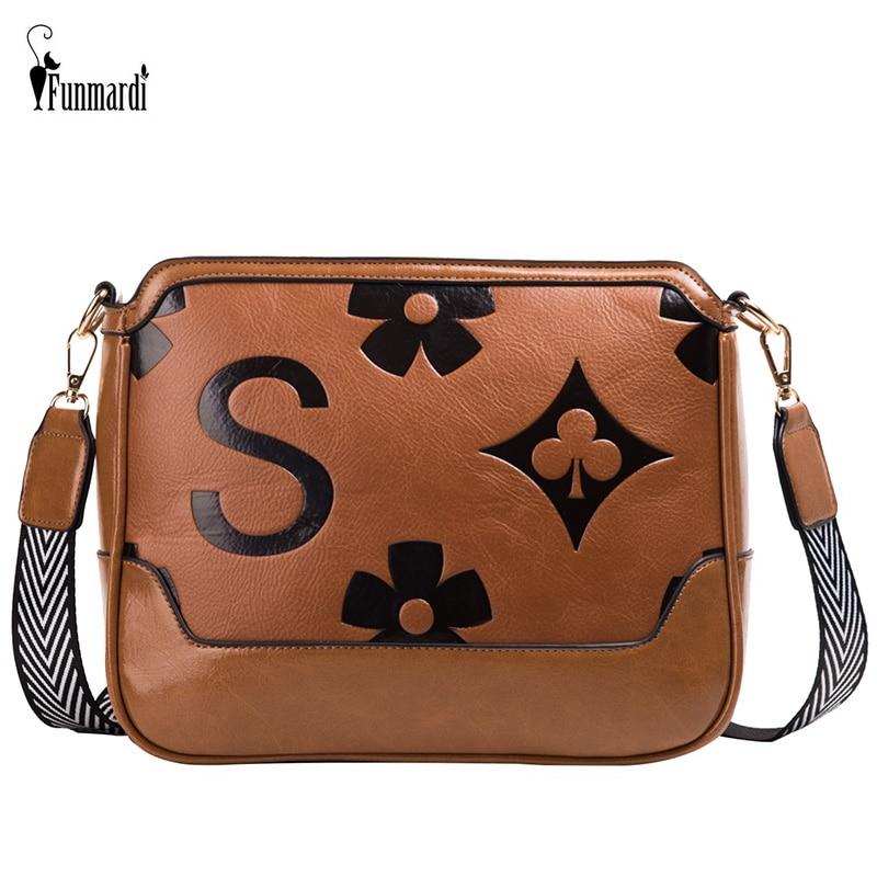 FUNMARDI Hot Sale Luxury Crossbody Bag For Women Shoulder Bag Weave Belt PU Leather Women Bags Ladies Messenger Bag WLHB2161