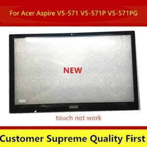 15.6 laptop laptop painel digitador da tela de toque do portátil para acer aspire V5-552 552pg V5-552P V5-572 572pg V5-573 V5-573P (toque não pode trabalhar)