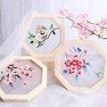 Padrões de Flores chinês kit com Moldura De Madeira DIY Conjunto do Ponto Da Cruz do Bordado Handmade Craft Costura Pacote de Material de Pintura