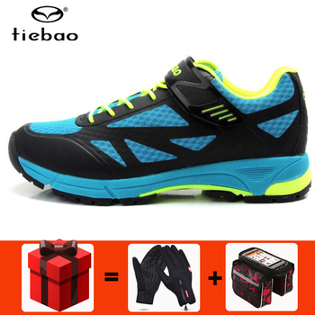 Tiebao Cycling Shoes Men sapatilha ciclismo MTB Leisure Outdoor Mountain Bike Breathable Bicycle Shoes Durable Athletic Shoes