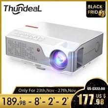 ThundeaL Full HD nativa de 1080P TD96 LED Mini Proyector portátil  WiFi inalámbrico Android Multi pantalla Beamer 3D Video proyector  Cine en casa 2800 lúmenes con pantalla  Compatible con AC3