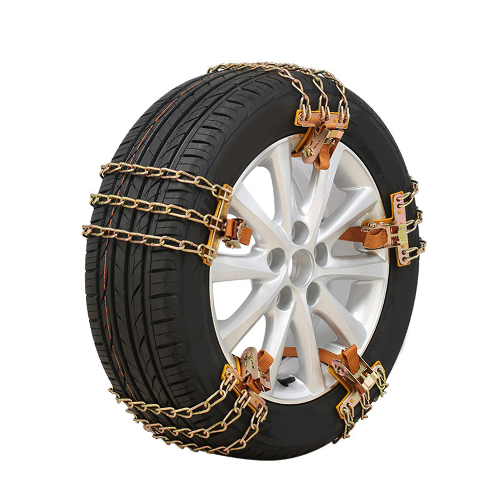 1pc Anti-skid Chain Wear-resistant Steel Car Snow Chains For Ice/Snow/Mud Road Safe For Driving 3 Chains Balance Design image